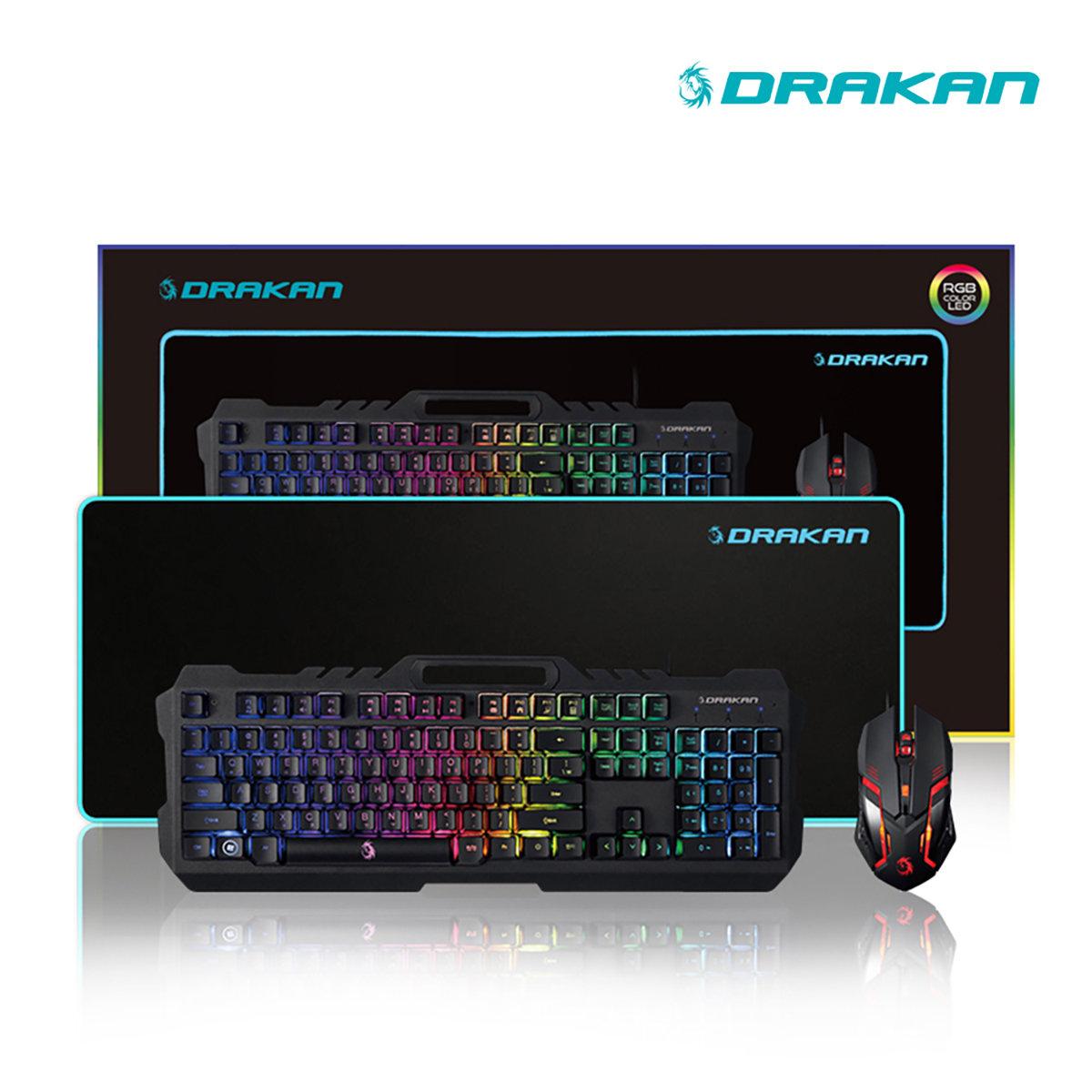 DRAKAN_게이밍키보드마우스패드세트_DGS-1000