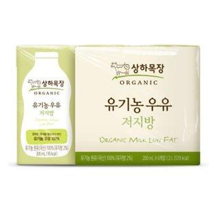매일_상하목장유기농저지방멸균우유_200ML*6