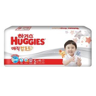 유한킴벌리_하기스매직뉴컴포트밴드기저귀특대형5단계(공용)_46매