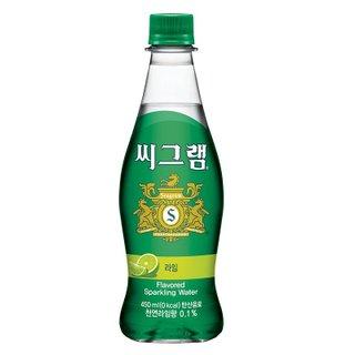 코카콜라_씨그램천연라임_450ML