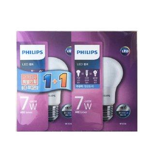 필립스 LED램프 7W 주광색 1+1(기획상품)