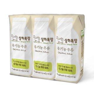 매일_상하목장 유기농멸균우유 125ml*3