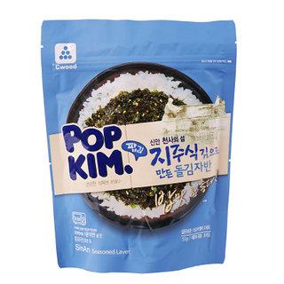 팝김 신안천사의섬 지주식김으로 만든 돌김자반 55g 시우드