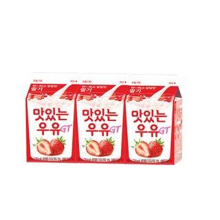 남양_맛있는 딸기우유_180ML*3