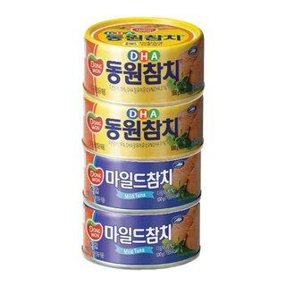 동원 DHA참치+마일드참치 100G*2+100G*2