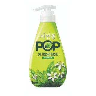 친환경)LG생활건강_자연퐁POP바질주방세제용기_500ML