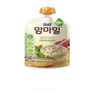 매일유업_맘마밀안심이유식시금치와연근소고기9개월_100G