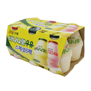 빙그레_바나나우유6입기획(바나나,딸기)_240ML*6
