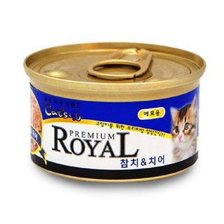 아쿠아 고양이캔참치치어 85G
