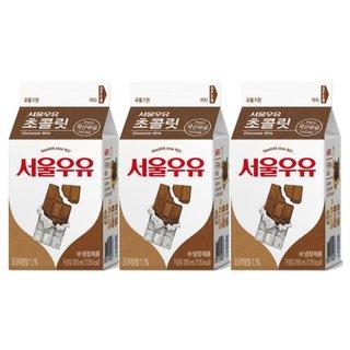 서울_쵸코우유_200ML*3