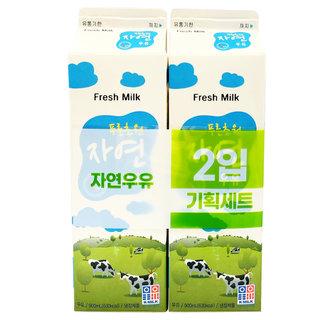 부산우유_푸른초원자연우유_900ML*2