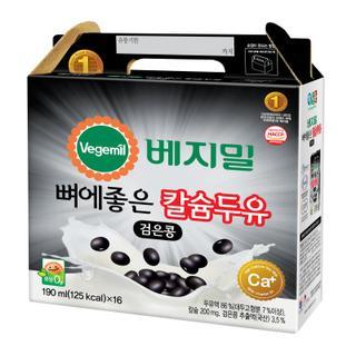 정식품 뼈에좋은검은콩칼슘두유 190ML*16