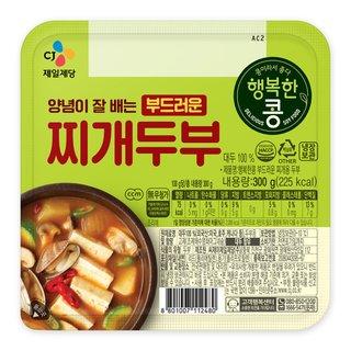 씨제이_행복한콩 양념이 잘배이는 찌개두부_300G