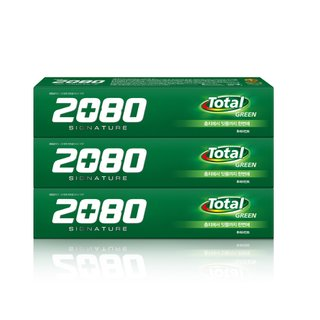 애경 2080시그니처그린라벨치약 130G*3
