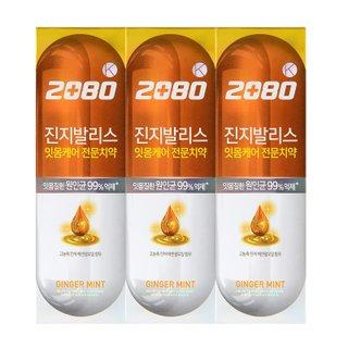 애경 2080진지발리스진저민트치약 120G*3