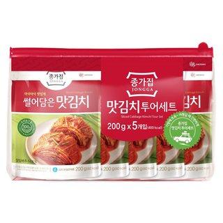 대상종가집 맛김치여행세트 200G*5