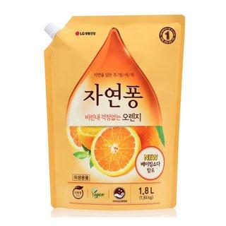 LG생활건강 자연퐁오렌지주방세제리필 2L
