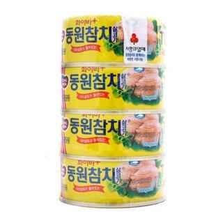 동원 화이바플러스참치 100G*4