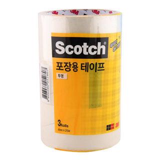 스카치™포장용 테이프 (48mm X 25m) 3개입